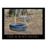Tire And Rope Swing Print