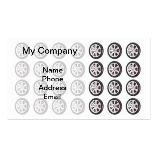 Tire and Wheel Maintenance Business Card