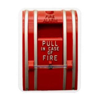 tire de la alarma de incendio imán flexible