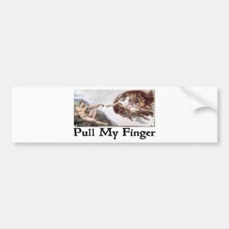 Tire de mi dedo pegatina para auto