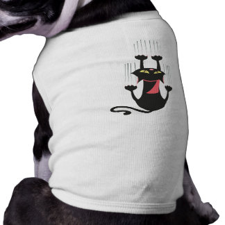 Tire de mi pata - gato Scratcher Camisa De Mascota