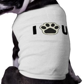 Tire de mi pata - pata de I usted Camisetas De Perrito