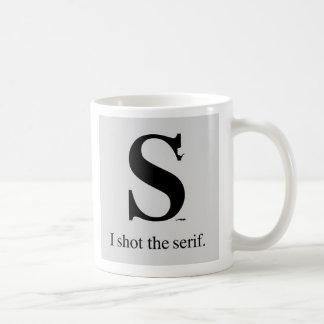 Tiré el trazo de pie taza de café