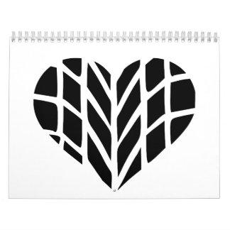 Tire heart calendar