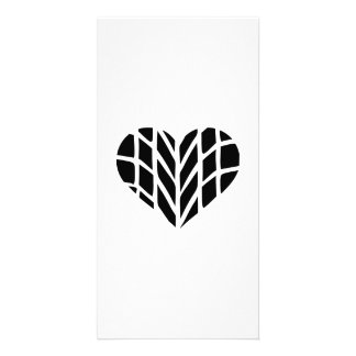 Tire heart personalized photo card