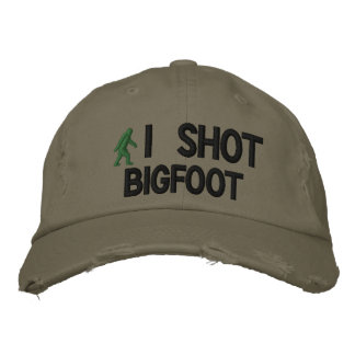 Tiré la versión de lujo de Bigfoot Gorras Bordadas