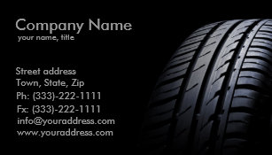 Tire business cards templates zazzle tire mounting and balancing business card colourmoves