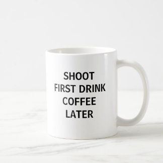 Tire primero… taza de café
