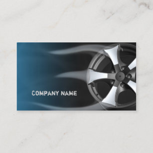 Tire business cards templates zazzle tire rim with flames blue business card colourmoves