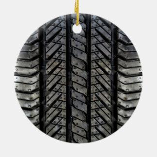 Tire Rubber Automotive Texture Decor Ceramic Ornament