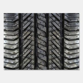 Tire Rubber Automotive Texture Signs