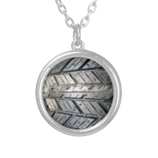 Tire Silver Plated Necklace