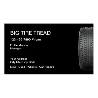 Tire store business cards templates zazzle for Tire shop business cards