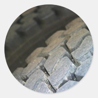 Tire Surface Classic Round Sticker