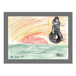 Tire Swing at Sunset Postcard