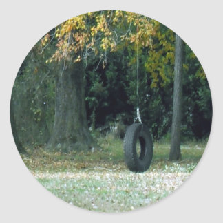 Tire Swing Classic Round Sticker