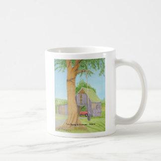 Tire Swing in Summer - Maine Classic White Coffee Mug