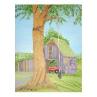 Tire Swing in Summer - Maine Postcard