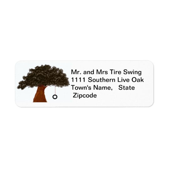 Tire Swing Label