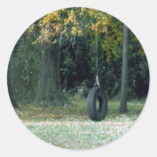 Tire Swing Round Sticker