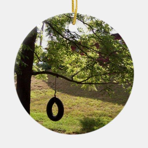 Tire swing summer memories ornament