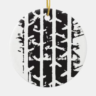 Tire Track Ceramic Ornament