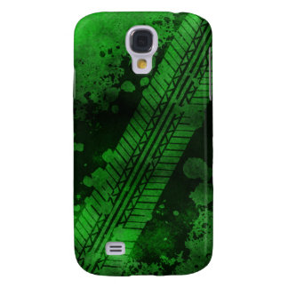 Tire Track Grunge iPhone 3G Case (lime)