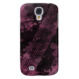 Tire Track Grunge iPhone 3G Case (pink)