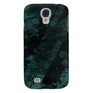 Tire Track Grunge iPhone 3G Case (teal)