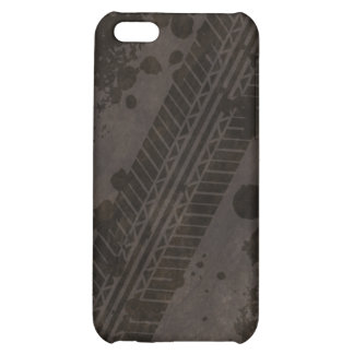 Tire Track Grunge iPhone 4 Case (black)