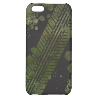 Tire Track Grunge iPhone 4 Case (olive)