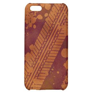 Tire Track Grunge iPhone 4 Case (pumpkin)