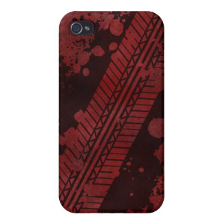 Tire Track Grunge iPhone 4 Case (red)