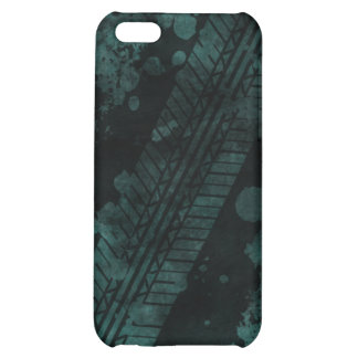 Tire Track Grunge iPhone 4 Case (teal)