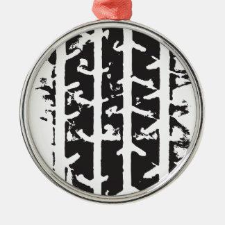 Tire Track Metal Ornament