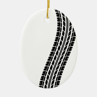 tire-track-t-shirts.png ceramic ornament