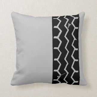 Tire Track Throw Pillow