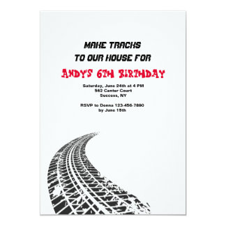 Tire Tracks Invitation