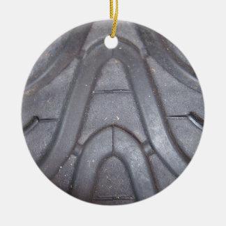 Tire Tread Ceramic Ornament