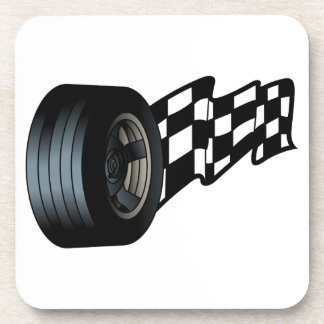 Tire with Flag Coaster