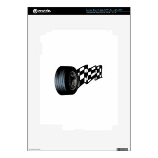 Tire with Flag iPad 3 Decal