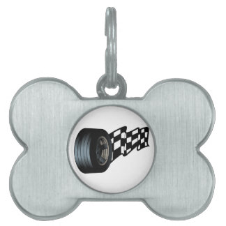 Tire with Flag Pet Tag