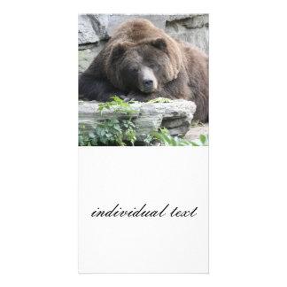 Tired Bear Card