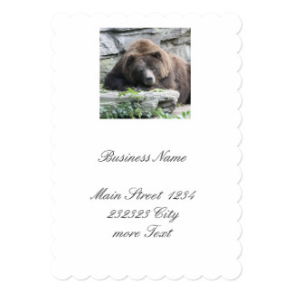Tired Bear Card