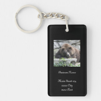 Tired Bear Keychain