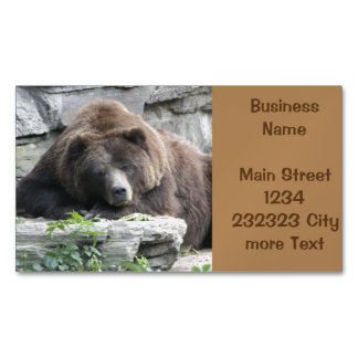 Tired Bear Magnetic Business Card
