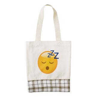 Tired Bedtime Emoji Zazzle HEART Tote Bag