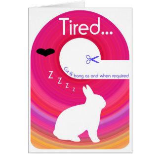 Tired Bunny!..Send a Gift Card Door Hanger Card