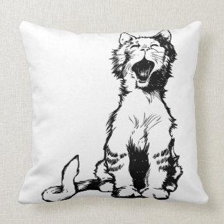 Tired cat pillow