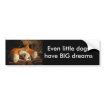 Tired Cowboy Puppies Bumper Sticker